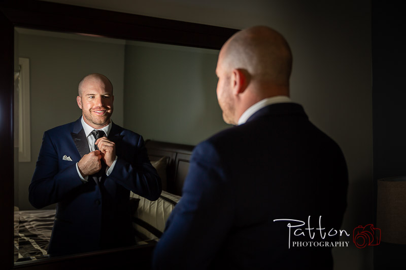 Calgary groom getting ready for incredible Valley Ridge wedding