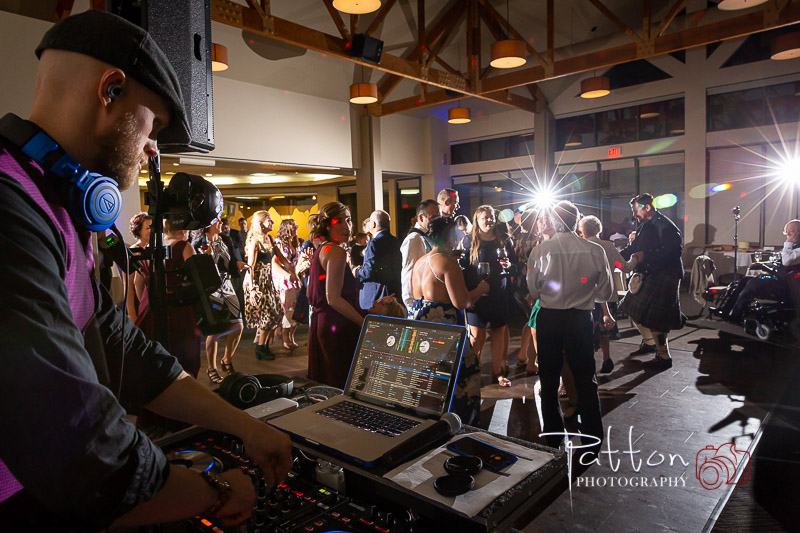 DJ playing at incredible Valley Ridge Golf Club wedding