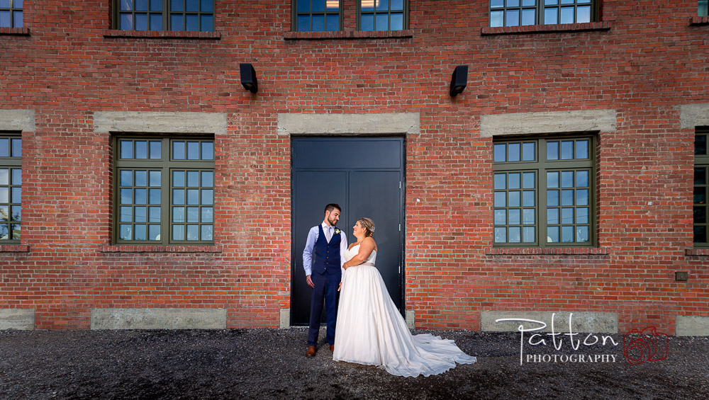 Calgary bride and groom in East Village after wedding