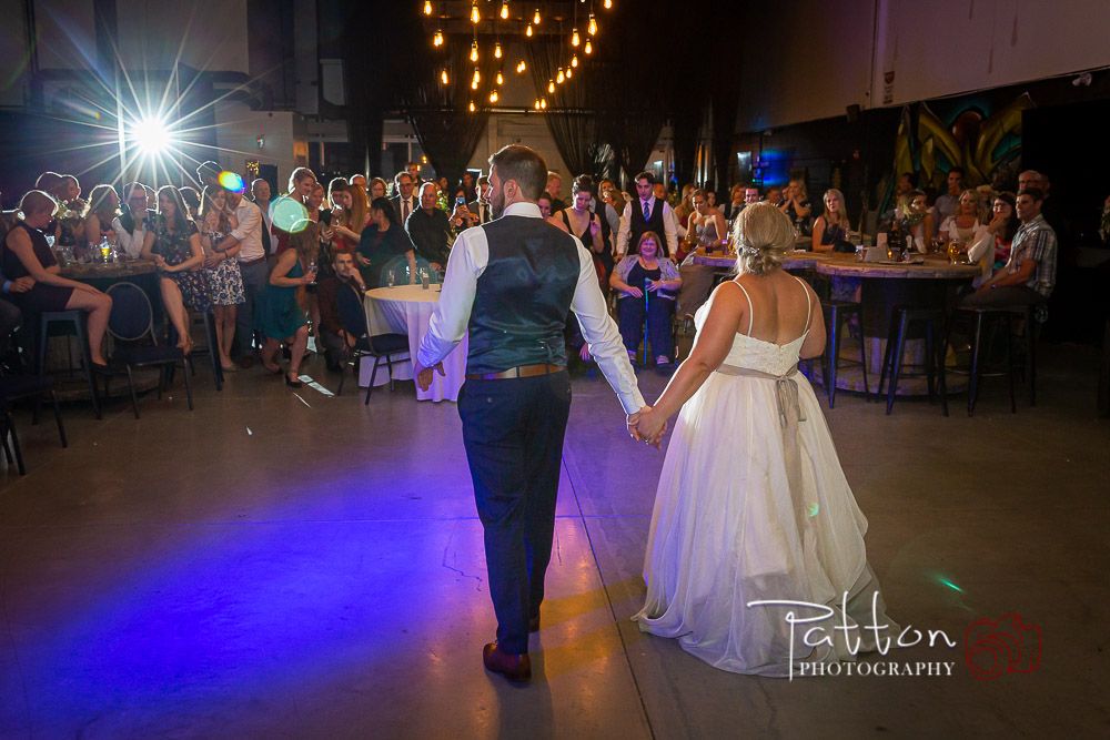 Bride and groom first dance at Calgary Railyard Brewery wedding2