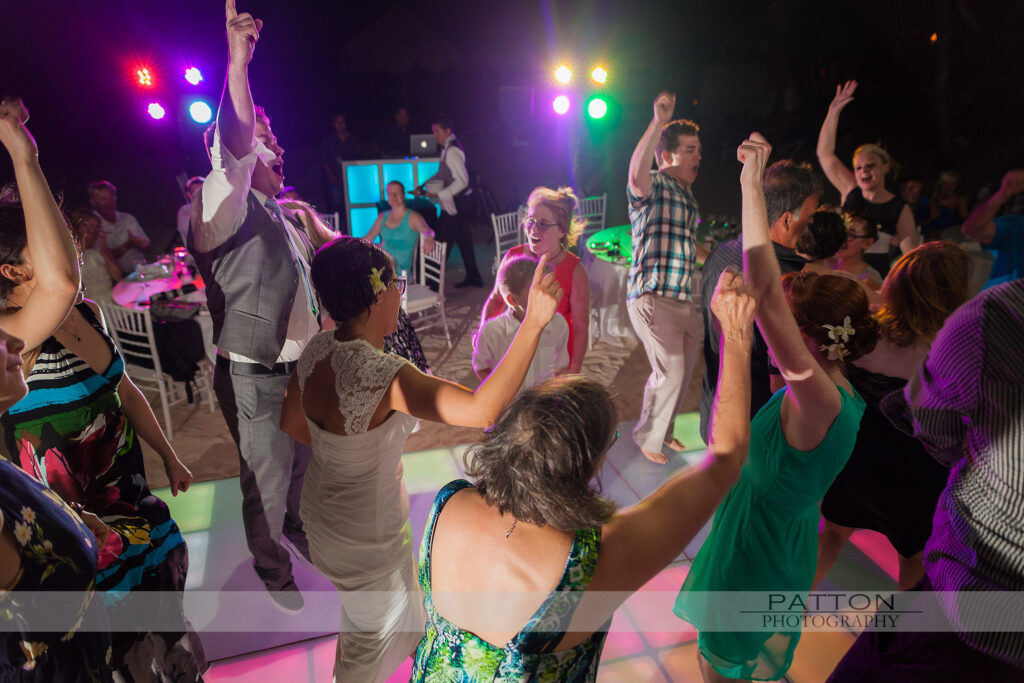 Destination wedding Mexico wedding reception