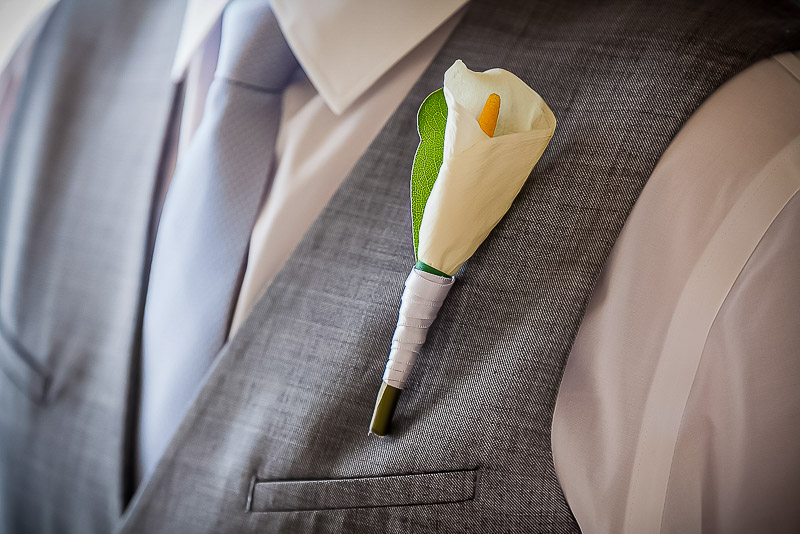 Wedding boutonniere on groom