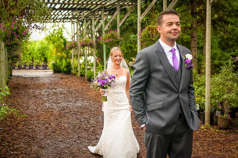 Saskatoon Farm wedding first look