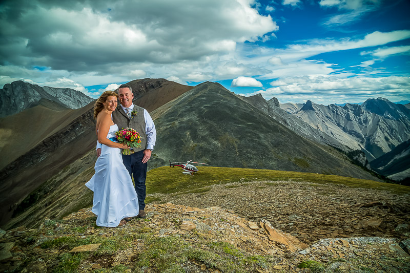 Calgary Mountain Helicopter Wedding