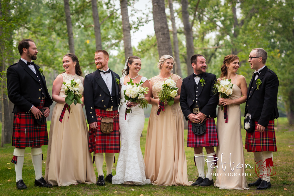Australian Scottish Wedding party